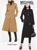 Michael Kors Wool Plain Long Trench Coats