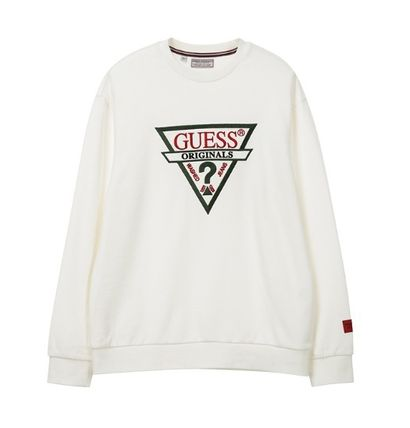 Guess Sweatshirts Unisex Long Sleeves Cotton Sweatshirts 2
