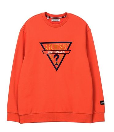 Guess Sweatshirts Unisex Long Sleeves Cotton Sweatshirts 8