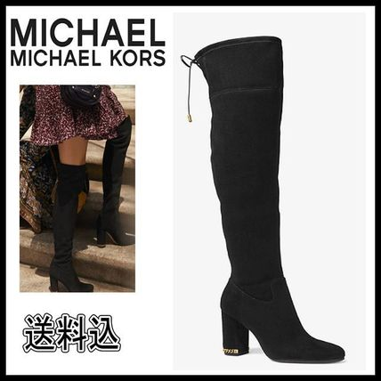 b182880c120 ... Michael Kors Over-the-Knee Round Toe Suede Plain Party Style Over-the  ...