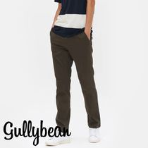 8SECONDS Tapered Pants Street Style Plain Cotton Khaki Tapered Pants