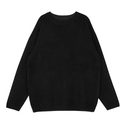 SHETHISCOMMA Knits & Sweaters Crew Neck Unisex Wool Long Sleeves Plain Knits & Sweaters 5