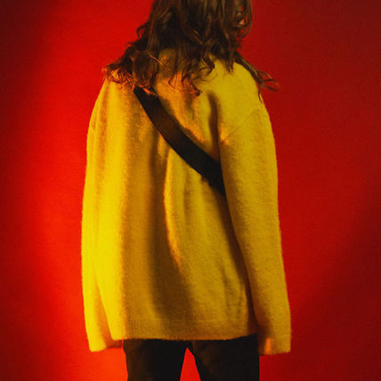SHETHISCOMMA Knits & Sweaters Crew Neck Unisex Wool Long Sleeves Plain Knits & Sweaters 8