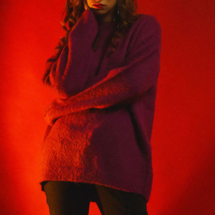SHETHISCOMMA Knits & Sweaters Crew Neck Unisex Wool Long Sleeves Plain Knits & Sweaters 14