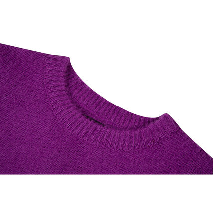 SHETHISCOMMA Knits & Sweaters Crew Neck Unisex Wool Long Sleeves Plain Knits & Sweaters 16