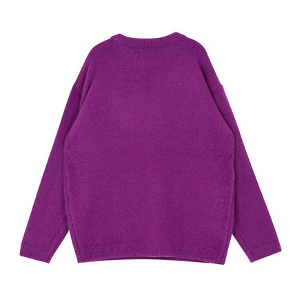 SHETHISCOMMA Knits & Sweaters Crew Neck Unisex Wool Long Sleeves Plain Knits & Sweaters 18