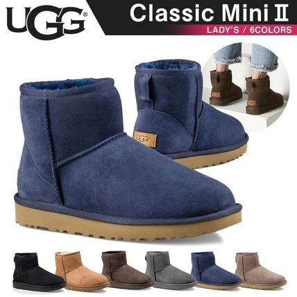 UGG Australia Ankle & Booties Rubber Sole Casual Style Fur Street Style