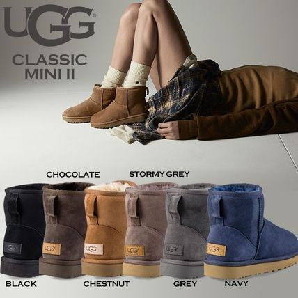 UGG Australia Ankle & Booties Rubber Sole Casual Style Fur Street Style 2