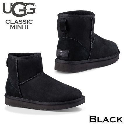 UGG Australia Ankle & Booties Rubber Sole Casual Style Fur Street Style 3