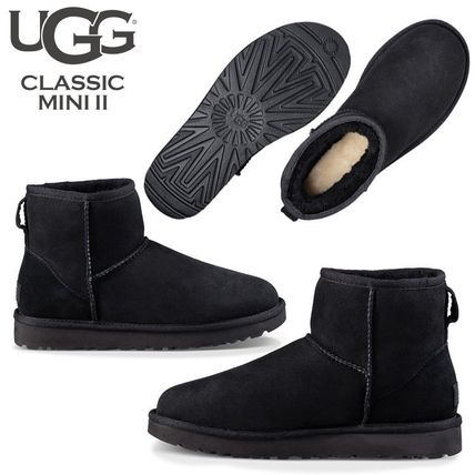 UGG Australia Ankle & Booties Rubber Sole Casual Style Fur Street Style 4