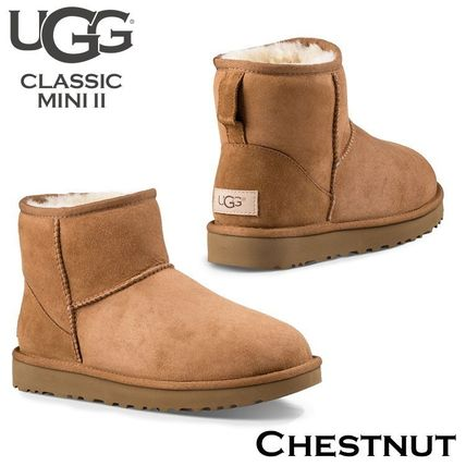 UGG Australia Ankle & Booties Rubber Sole Casual Style Fur Street Style 5