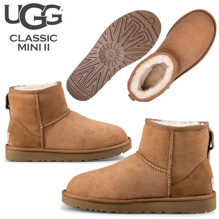 UGG Australia Ankle & Booties Rubber Sole Casual Style Fur Street Style 6