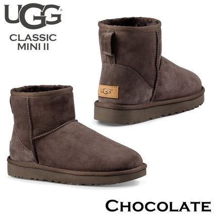 UGG Australia Ankle & Booties Rubber Sole Casual Style Fur Street Style 7