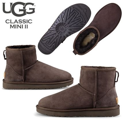 UGG Australia Ankle & Booties Rubber Sole Casual Style Fur Street Style 8