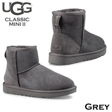 UGG Australia Ankle & Booties Rubber Sole Casual Style Fur Street Style 9