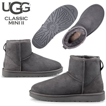UGG Australia Ankle & Booties Rubber Sole Casual Style Fur Street Style 10