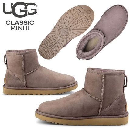 UGG Australia Ankle & Booties Rubber Sole Casual Style Fur Street Style 12