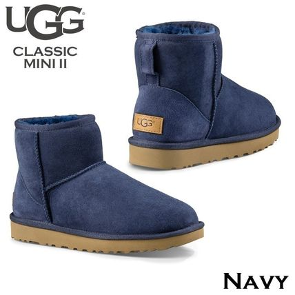 UGG Australia Ankle & Booties Rubber Sole Casual Style Fur Street Style 13