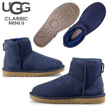 UGG Australia Ankle & Booties Rubber Sole Casual Style Fur Street Style 14