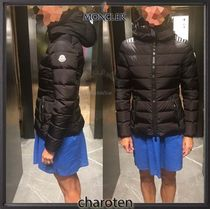 MONCLER Short Blended Fabrics Street Style Plain Leather