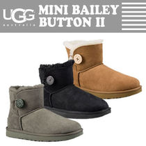 UGG Australia BAILEY BUTTON Rubber Sole Casual Style Fur Street Style