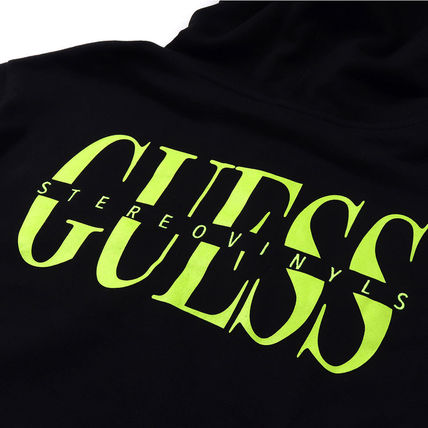 Guess Hoodies Crew Neck Pullovers Street Style Collaboration Long Sleeves 10