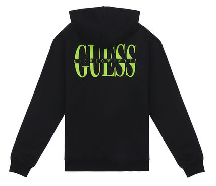 Guess Hoodies Crew Neck Pullovers Street Style Collaboration Long Sleeves 13