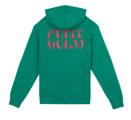 Guess Hoodies Crew Neck Pullovers Street Style Collaboration Long Sleeves 16