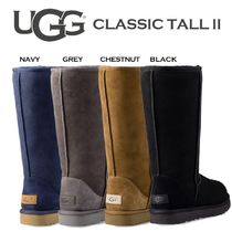 UGG Australia CLASSIC TALL Rubber Sole Casual Style Fur Street Style