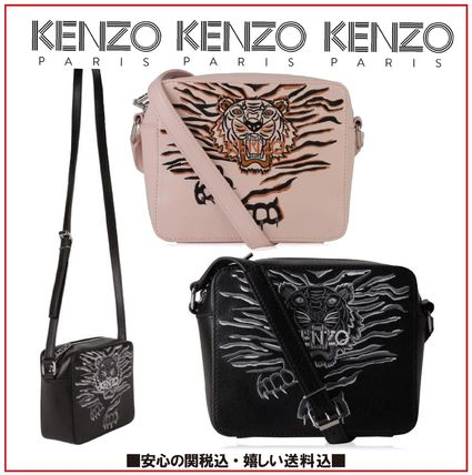 Other Animal Patterns Leather Shoulder Bags