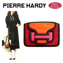 Pierre Hardy Suede Blended Fabrics 2WAY Elegant Style Shoulder Bags