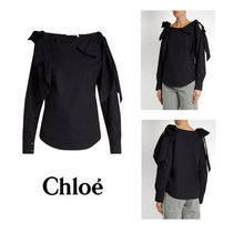 Chloe Casual Style Long Sleeves Plain Cotton Medium