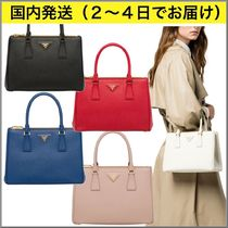 PRADA GALLERIA Calfskin 2WAY Plain Elegant Style Handbags