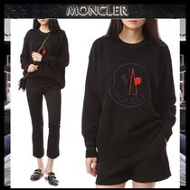 MONCLER Cashmere Blended Fabrics Street Style Long Sleeves Plain