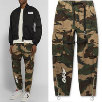Off-White Camouflage Street Style Cotton Cargo Pants