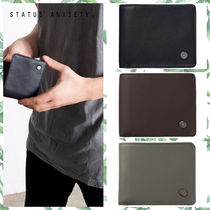 STATUS ANXIETY Unisex Plain Leather Handmade Wallets & Small Goods