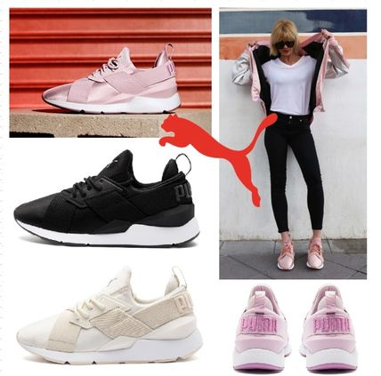 new style 48def bde7d PUMA 2018-19AW Unisex Plain Low-Top Sneakers (36842702, MUSE SATIN II WNS)
