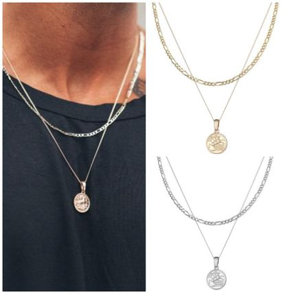 Unisex Street Style Silver Necklaces & Chokers