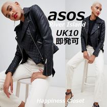 ASOS Faux Fur Plain Medium Biker Jackets