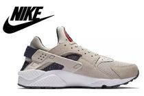 Nike AIR HUARACHE Street Style Plain Leather Sneakers