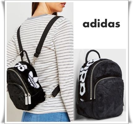 Casual Style Faux Fur Street Style Plain Backpacks