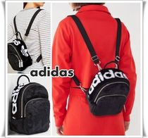 adidas Casual Style Faux Fur Street Style 3WAY Plain Backpacks