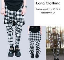 LONG CLOTHING Tartan Unisex Street Style Sarouel Pants