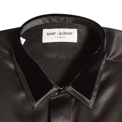 Saint Laurent Shirts Silk Long Sleeves Plain Shirts 2