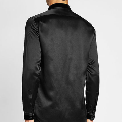 Saint Laurent Shirts Silk Long Sleeves Plain Shirts 7