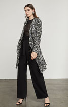 BCBG MAXAZRIA Flower Patterns Trench Coats