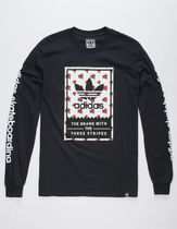 adidas Flower Patterns Long Sleeves Logos on the Sleeves