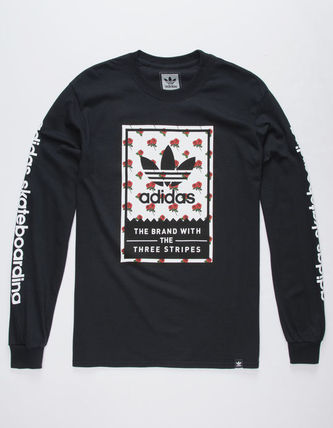 adidas Long Sleeve Flower Patterns Long Sleeves Logos on the Sleeves