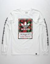 adidas Flower Patterns Long Sleeves Long Sleeve T-Shirts
