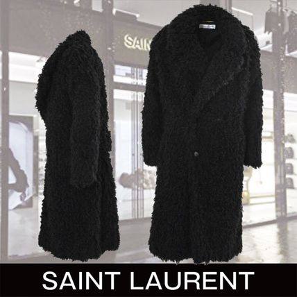 13ed385a1ac ... Coats 2 Saint Laurent Cashmere & Fur Faux Fur Plain Medium Cashmere &  Fur ...